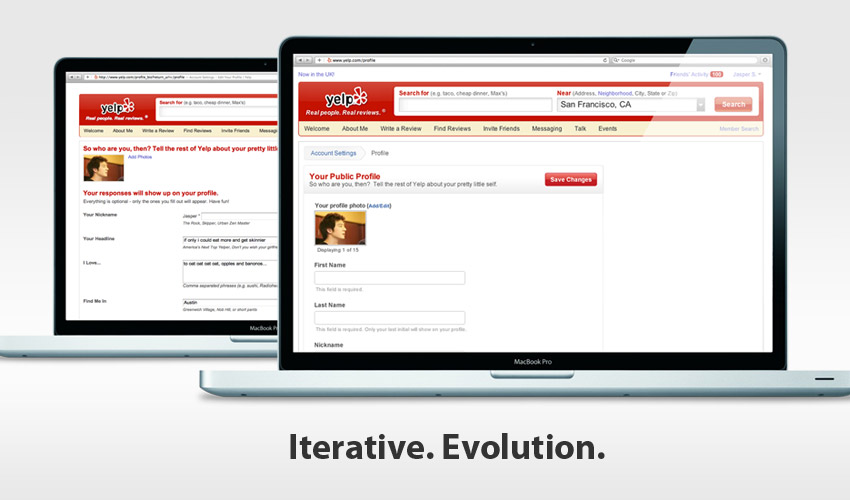 Yelp Profile Page Redesign